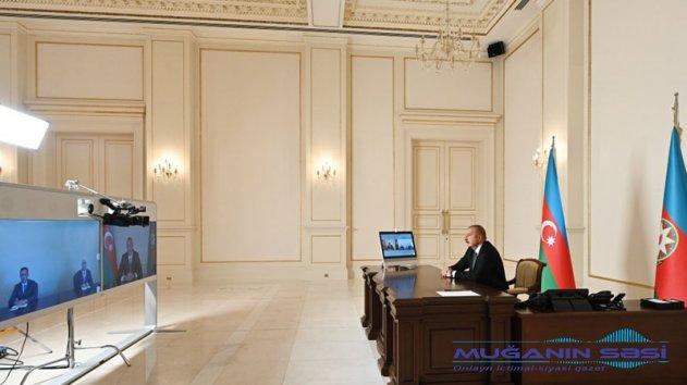 Prezident yeni icra başçılarını videoformatda qəbul etdi